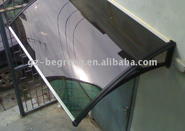 Guangzhou begreen de policarbonato de plástico cubierta de toldo, puerta canopy