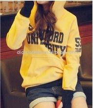 ladies' classic cotton yellow hoody 2012