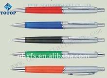 plastic pen with metal clip promotion plastic ballpoint pen