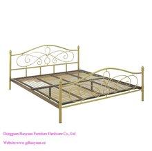 Haoyuan metal bed with metal mesh inside