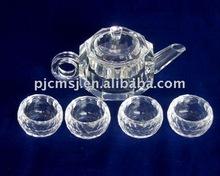 Crystal tea set,glass tea set,tableware