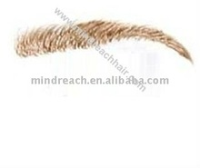 Top quality 12# 100|% human hair false eyebrow all hand tied fake eyebrow