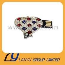 Nobel heart jewelry usb flash memory