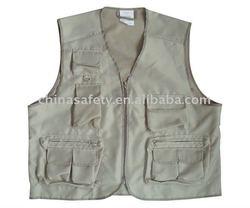 gaberdine fishing vest