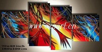 Modern Group Abstract Hand Made Oil Paintings T0111