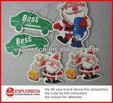 Christmas Decorations Peach Paper Car Air Fragrances