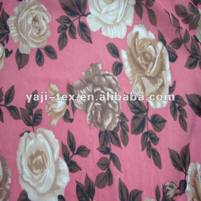 imitated silk chiffon fabric with crepe effect
