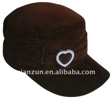 Comfortably leisure 100% cotton fitted military hat and cap