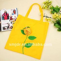 Cute Rose Foldable Poylester Shopping Bag