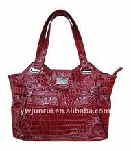 2012 New Fashion Design Handbag With Crocodile Pattern