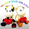 Soft plush valentines cow toys