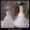 MGd755 Fashion Lace Mermaid Tail Layered Modest Wedding Dresses