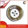 4 holes flatback vacuum plated plastic suits button