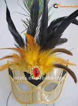 Peacock plumes mask , carnival venetian mask