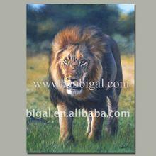 handmade wild animal painting design of lion