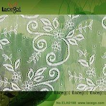 venta caliente fabricante textil elástica cosecha de tela de encaje