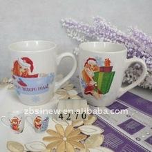 12 oz v-belly shaped snowman gift christmas ceramic coffee mug