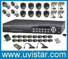 free shipping 16CH H.264 DVR 1TB 16 Sharp CCD Camera CCTV kit