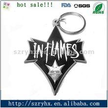 Promotional cheap custom keychain silicon