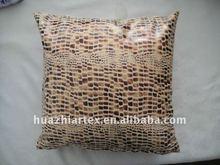 Gold Colour Fashion cushion, Silk Polyester Fabric Cushion