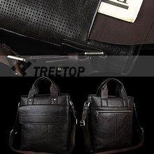 Men Bakken genuine leather shoulder laptop hand bag for 12'' laptop