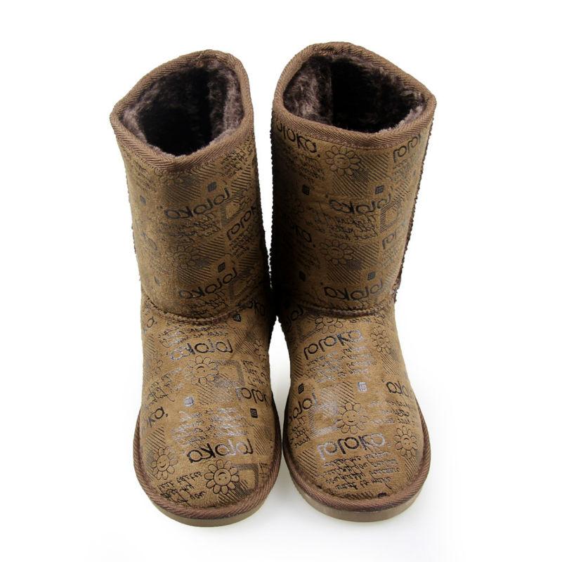 Black Suede Upper Flat Women Fashion Boots