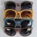 Gafas de sol de imitación de madera / lentes de sol baratos en madera / lentes de sol en madera hecha de PC