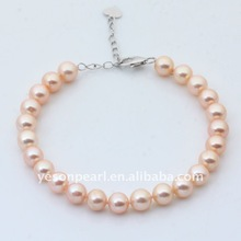 hot sale adjustable high quality AAA fashion freshwater pearl bracelet