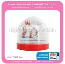 promotional plastic snow globe