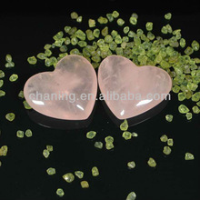 Wholesale natural high quality glass rose quartz puffy heart