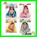 D805 con capucha toalla de baño para los niños de los niños