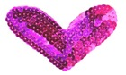heart iron sequin patches