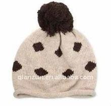winter warm knitted crochet children hat with acrylic knit yarn