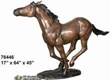 Elegant Cast Metal Horse Sculptures