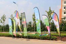 Beach flag banner,feather flying banner,fiberglass pole