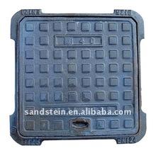 EN124 cast iron drainage manhole cover
