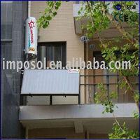 closed loop balcony hanging flat panel solar system