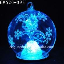 LED hanging wholesale glass balls with Aquarius