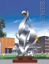 steel abstract figure decorative