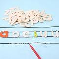 o jardim de infância de arte e artesanato de madeira conjuntos de letras do alfabeto para artesanato