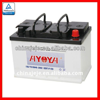 Dry Charged Lead Acid Battery 56638 12V66AH