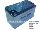 Dry Charged Automotive Battery DIN92