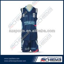Full sublimation printing basketball club uniform