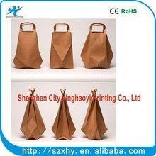 colorful logo printed custom paper food bag raw material of paper bag