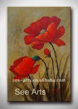 100% Handmade Oil Flower Painting Wall Art