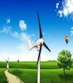 Pequeño 100w-20kw eje horizontal de viento generador de energía de la energía eólica