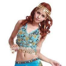 Nice Blue Belly Dance Sequin Top SZ003