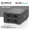 Orico 3529RUS3 2 bay disco duro RAID HDD hdd, Caja de disco duro USB 3.0 de la aleación