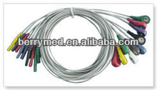TPU Material Snap 10 Leads Holter Wires--ecg electrodes manufacturers