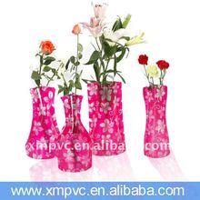 plastic promotion PVC home vase XYL-D-V113